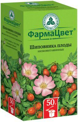 Шиповника плоды, сырье растительное цельное, 50 г, 1 шт.