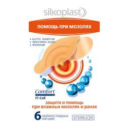 Пластырь медицинский Silkoplast Comfort IT-Coll Помощь при мозолях, пластырь медицинский, 6 шт.
