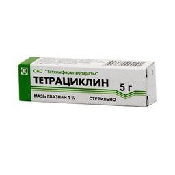 Тетрациклин (глазная мазь), 1%, мазь глазная, 5 г, 1 шт.