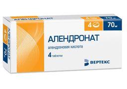 Алендронат, 70 мг, таблетки, 4 шт.