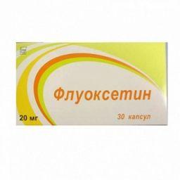 Флуоксетин, 20 мг, капсулы, 30 шт.