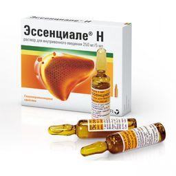 Эссенциале Н, 250 мг/5 мл, раствор для внутривенного введения, 5 мл, 5 шт.