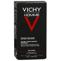 Vichy Homme Sensi Baume бальзам после бритья для чувствительной кожи, бальзам для лица и тела, мужские, 75 мл, 1 шт.