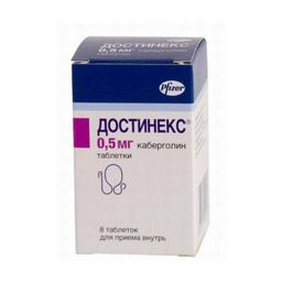 Достинекс, 0.5 мг, таблетки, 8 шт.