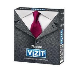 Презервативы Vizit Classic, презерватив, гладкие, 3 шт.