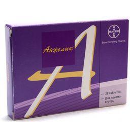 Анжелик, 2 мг+1 мг, таблетки, покрытые пленочной оболочкой, 28 шт.