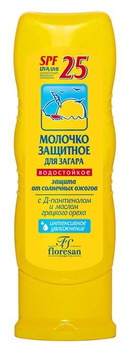 Floresan Молочко защитное для загара SPF25+, молочко, 125 мл, 1 шт.