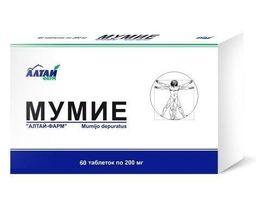 Мумие, 0.2 г, таблетки, 60 шт.