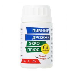 Пивные дрожжи Экко Плюс с кальцием, 0.45 г, таблетки, 100 шт.