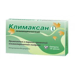 Климаксан гомеопатический, гранулы гомеопатические, 10 г, 1 шт.