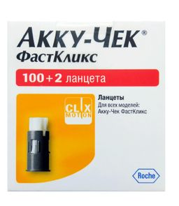 Accu-Chek FastClix Ланцеты, 102 шт.