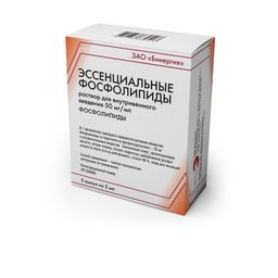 Эссенциальные фосфолипиды, 50 мг/мл, раствор для внутривенного введения, 5 мл, 5 шт.