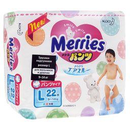 Подгузники-трусики детские Merries, 9-14 кг, р. L, 22 шт.