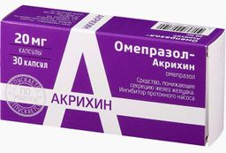 Омепразол-Акрихин, 20 мг, капсулы, 30 шт.