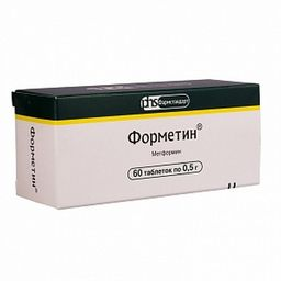 Форметин, 500 мг, таблетки, 60 шт.