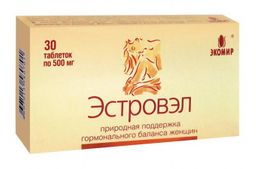 Эстровэл, 530 мг, капсулы, 30 шт.