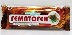 Гематоген Народный с кедровым орехом, плитка, 40 г, 1 шт.