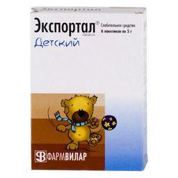 Экспортал, порошок для приготовления раствора для приема внутрь, 5 г, 6 шт.