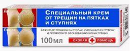 Скорая помощь Крем косметический для пяток, крем для ног, 100 мл, 1 шт.