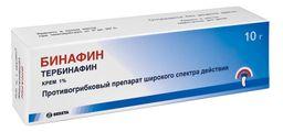 Бинафин, 1%, крем для наружного применения, 10 г, 1 шт.