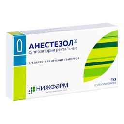 Анестезол, суппозитории ректальные, 10 шт.