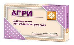 Агри, 1 пак. состав №1, 1 пак. состав №2, гранулы гомеопатические, 10 г, 2 шт.