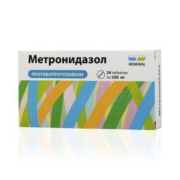 Метронидазол, 250 мг, таблетки, 24 шт.