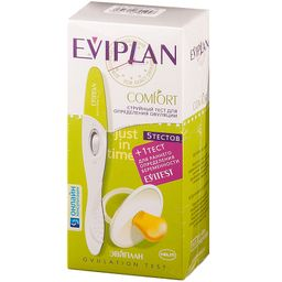 Тест на овуляцию Eviplan Comfort струйный №5, 5 шт.
