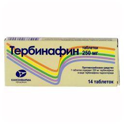 Тербинафин Канон, 250 мг, таблетки, 14 шт.