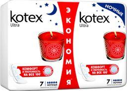 Kotex ultra прокладки ночные женские гигиенические, 14 шт.