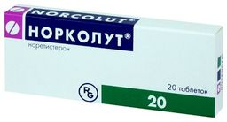 Норколут, 5 мг, таблетки, 20 шт.