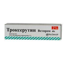 Троксерутин ВетПром, 2%, гель для наружного применения, 40 г, 1 шт.