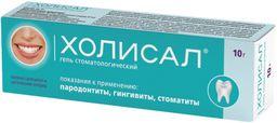 Холисал, гель стоматологический, 10 г, 1 шт.