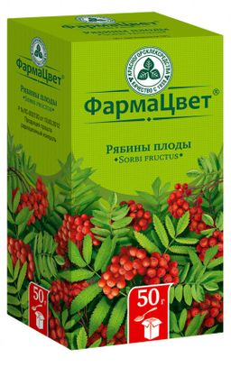 Рябины плоды, лекарственное растительное сырье, 50 г, 1 шт.