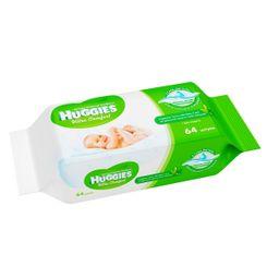Huggies ultra comfort алоэ салфетки влажные детские, сменный блок, 64 шт.