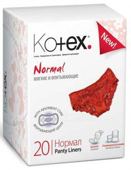 Kotex Normal прокладки ежедневные, прокладки гигиенические, нормал, 20 шт.