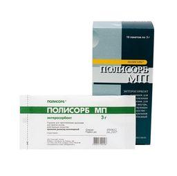 Полисорб МП, порошок для приготовления суспензии для приема внутрь, 3 г, 10 шт.