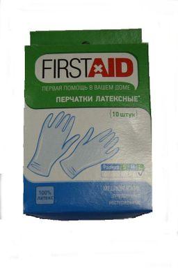 Ферстэйд перчатки смотровые нестерильные опудренные, L, 10 шт.