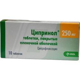 Ципринол, 250 мг, таблетки, покрытые пленочной оболочкой, 10 шт.