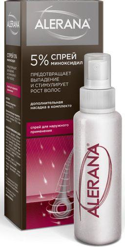 Алерана спрей, 5%, спрей для наружного применения, 60 мл, 1 шт.