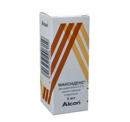 Максидекс, 0.1%, капли глазные, 5 мл, 1 шт.