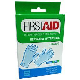 Ферстэйд перчатки смотровые нестерильные опудренные, размер M, 10 шт.