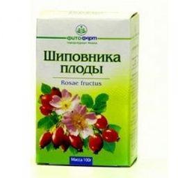 Шиповника плоды, 100 г, лекарственное растительное сырье, 1 шт.