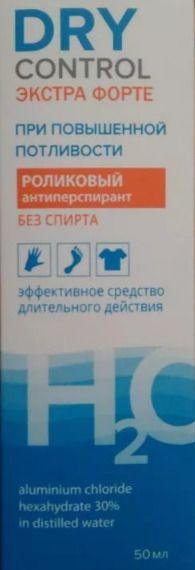 Dry Control Extra Forte роликовый антиперспирант без спирта 30%, 50 мл, 1 шт.