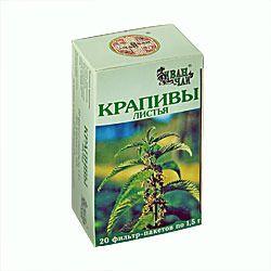 Крапивы листья, сырье растительное-порошок, 1.5 г, 20 шт.