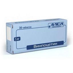 Винпоцетин, 5 мг, таблетки, 30 шт.