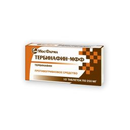 Тербинафин-МФФ, 250 мг, таблетки, 10 шт.