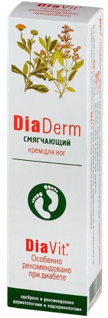 ДиаДерм Смягчающий крем для ног, крем для ног, 75 мл, 1 шт.