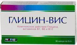 Глицин-Вис, 0.4 г, капсулы, 36 шт.