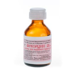 Фукорцин, раствор для наружного применения спиртовой, 25 мл, 1 шт.